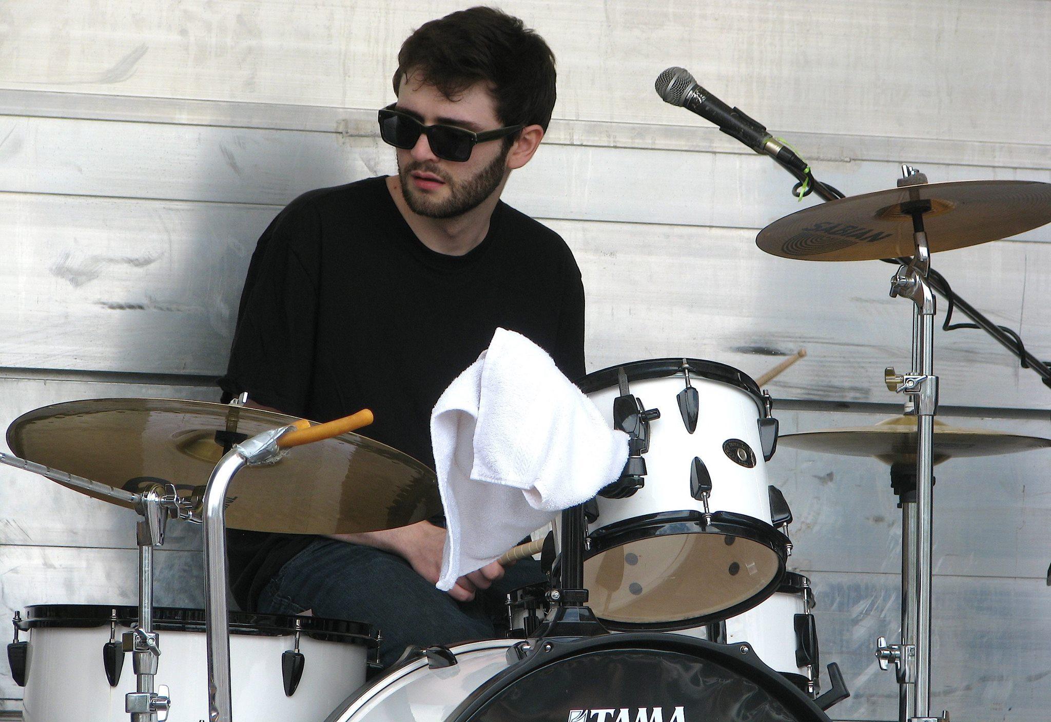 Braedon playing drums
