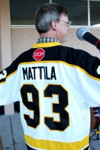Eric's back showing Mattila jersey number 93