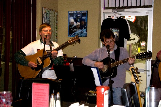 Eric and Mark playing guitar