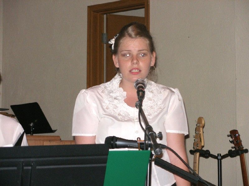 Young woman choir soloist